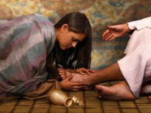 """You gave Me no water for My feet, but she has wet My feet with her tears and wiped them with her hair."" (Lk. 7:44)"