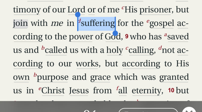 Power in Suffering