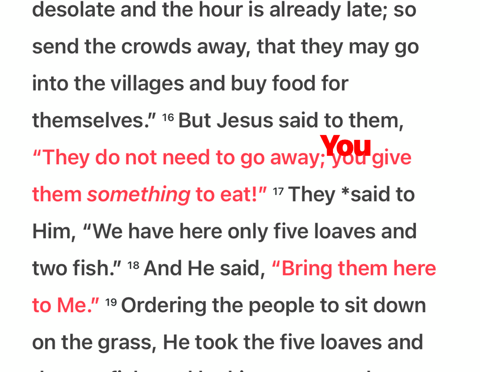 """When Jesus says """"You"""""""